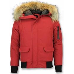 Textiel Heren Wind jackets Enos Korte Winterjas -Jas met Bontkraag - Winterjas Heren 8