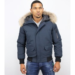 Textiel Heren Wind jackets Enos Korte Winterjas -Jas met Bontkraag - Winterjas Heren 19