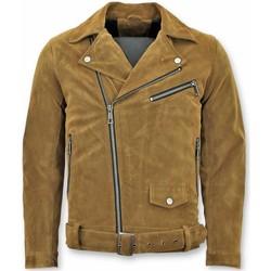 Textiel Heren Jacks / Blazers Wareen W Suede Bikerjack - Nep Leren Jasje -  Leren Jasje 28