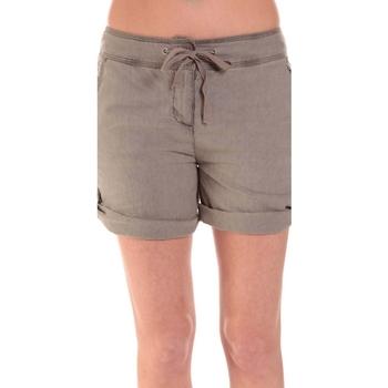 Textiel Dames Korte broeken / Bermuda's Sud Express SHORT SATIL TAUPE Bruin