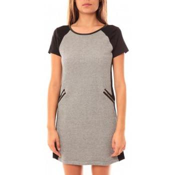 Textiel Dames Korte jurken Coquelicot Robe CQTW14225 Noir/Gris Zwart