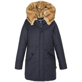 Textiel Dames Parka jassen Schott Manteau long femme JKTHEAT2W NAVY Blauw