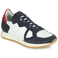 Schoenen Dames Lage sneakers Philippe Model Paris MONACO VINTAGE BASIC Wit / Marine