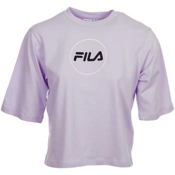 Textiel Dames T-shirts korte mouwen Fila Rehan Tee SS Wn's Violet