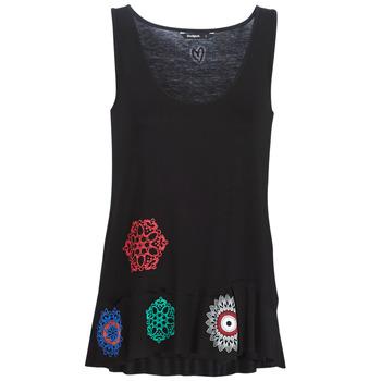 Textiel Dames Mouwloze tops Desigual MELISA Zwart