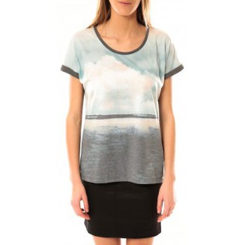 Textiel Dames T-shirts korte mouwen Vero Moda Cloud SS Top 10096122 Gris Blauw