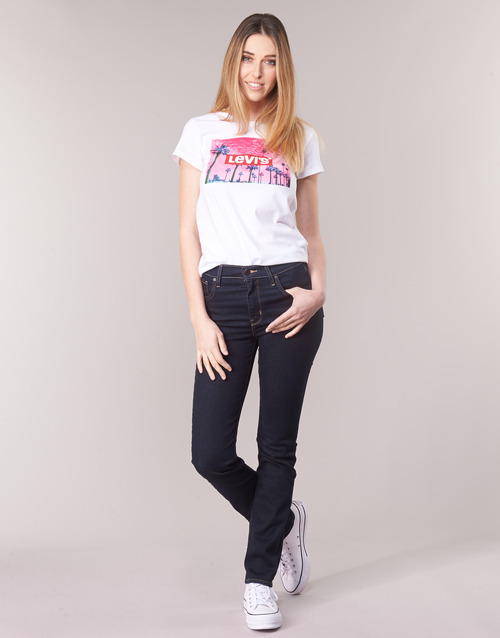 Textiel Dames Straight jeans Levi's 724 HIGH RISE STRAIGHT Thee / Negen