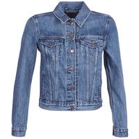 Textiel Dames Spijker jassen Levi's ORIGINAL TRUCKER Blauw / Medium