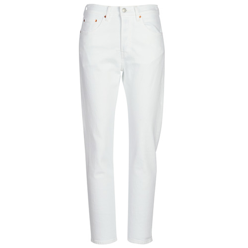 Textiel Dames Boyfriend jeans Levi's 501 CROP In / Thee / Wolken