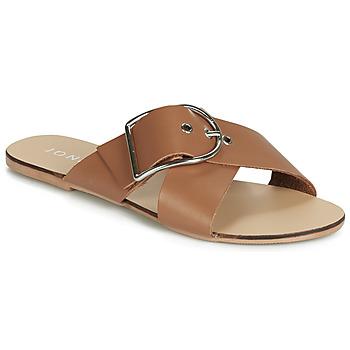 Schoenen Dames Leren slippers Jonak JASMINE Cognac