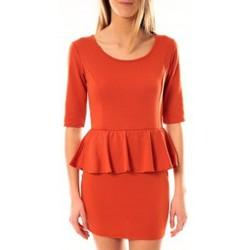 Textiel Dames Korte jurken Tcqb Robe Moda Fashion Orange Oranje