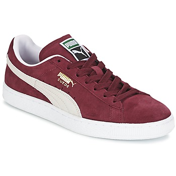 Schoenen Lage sneakers Puma SUEDE CLASSIC Rood / Wit