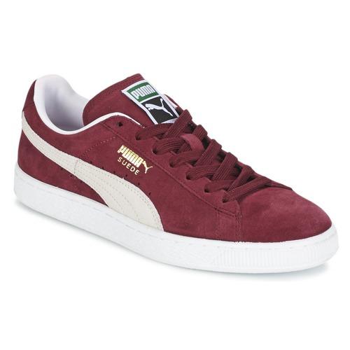 Schoenen Lage sneakers Puma SUEDE CLASSIC Bordeau