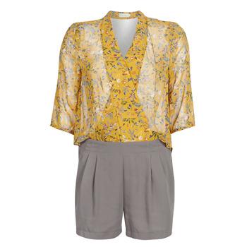Textiel Dames Jumpsuites / Tuinbroeken See U Soon GARAGALE Geel / Kaki
