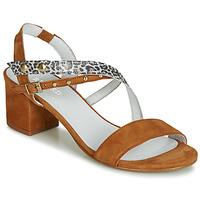 Schoenen Dames Sandalen / Open schoenen Regard REFTA V1 ANTE CAMEL Bruin