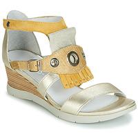 Schoenen Dames Sandalen / Open schoenen Regard RUBIKA V3 VEL JAUNE Geel