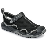 Schoenen Heren Outdoorsandalen Crocs SWIFTWATER MESH DECK SANDAL M Zwart