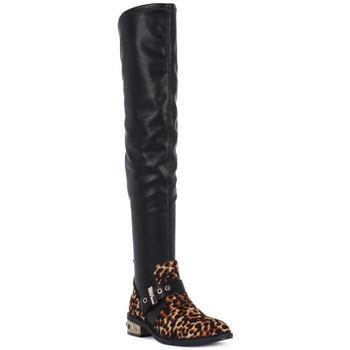 Schoenen Dames Hoge laarzen Elvio Zanon PONY NAPPA Nero