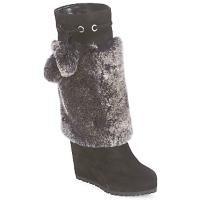 Schoenen Dames Hoge laarzen Sebastian NIGOK Zwart