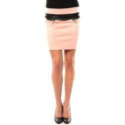 Textiel Dames Rokken Nina Rocca Jupe J.X Fashion Rose Roze