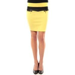 Textiel Dames Rokken Nina Rocca Jupe J.X Fashion Jaune Geel