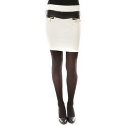 Textiel Dames Rokken Nina Rocca Jupe J.X Fashion Blanc Wit