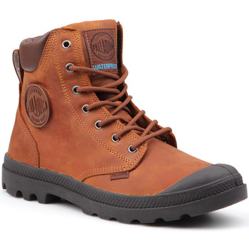 Schoenen Heren Laarzen Palladium Pampa Cuff WP Lux 73231-733-M brown