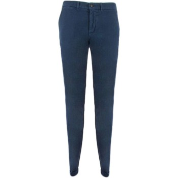 Textiel Heren Chino's Harmont & Blaine NARROW CHINOS Broek Mens Blauw Blauw