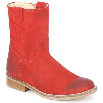 Schoenen Meisjes Laarzen Hip DIRAN Rood