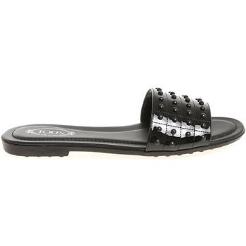 Schoenen Dames Leren slippers Tod's XXW0OV0Y401OW0B999 nero