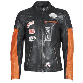 Textiel Heren Leren jas / kunstleren jas Oakwood INDIE Zwart / Oranje
