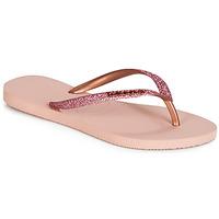 Schoenen Dames Teenslippers Havaianas SLIM GLITTER Roze