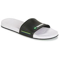 Schoenen Heren slippers Havaianas SLIDE BRASIL Wit:zwart
