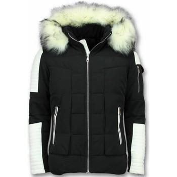 Textiel Heren Dons gevoerde jassen Enos Witte Bontjas -Zwarte Winterjas - Winterjas Heren - Nep Bontjas 1