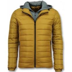 Textiel Heren Dons gevoerde jassen Enos Heren Jassen - Winterjas Mannen - Gele Jas - Heren Jacks 4