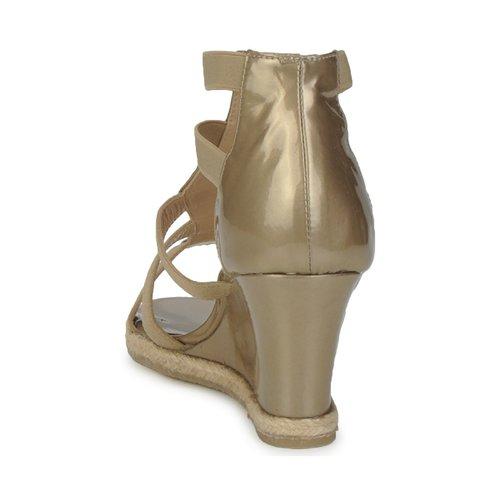 Amalfi by Rangoni LEMA Lak / Taupe - Gratis levering  Schoenen Sandalen Dames