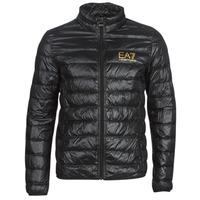 Textiel Heren Dons gevoerde jassen Emporio Armani EA7 TRAIN CORE ID DOWN LT Zwart / Goud