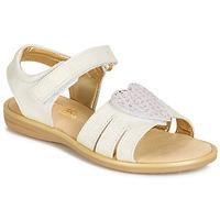 Schoenen Meisjes Sandalen / Open schoenen Citrouille et Compagnie JAFILOUTE Wit