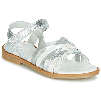 Schoenen Meisjes Sandalen / Open schoenen Citrouille et Compagnie JARILOU Zilver