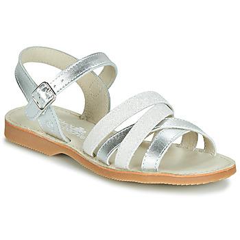 Schoenen Meisjes Sandalen / Open schoenen Citrouille et Compagnie JAGUINOIX Grijs / Zilver