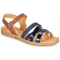 Schoenen Meisjes Sandalen / Open schoenen Citrouille et Compagnie JOLICOTE Marine / Camel