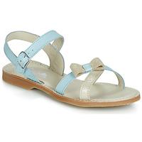 Schoenen Meisjes Sandalen / Open schoenen Citrouille et Compagnie JISCOTTE Blauw / Clair