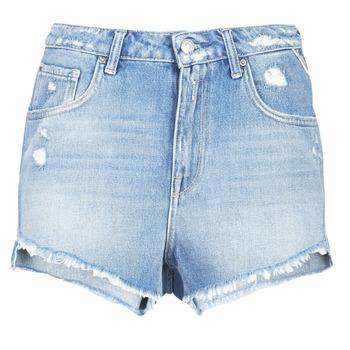 Textiel Dames Korte broeken / Bermuda's Replay PABLE Blauw