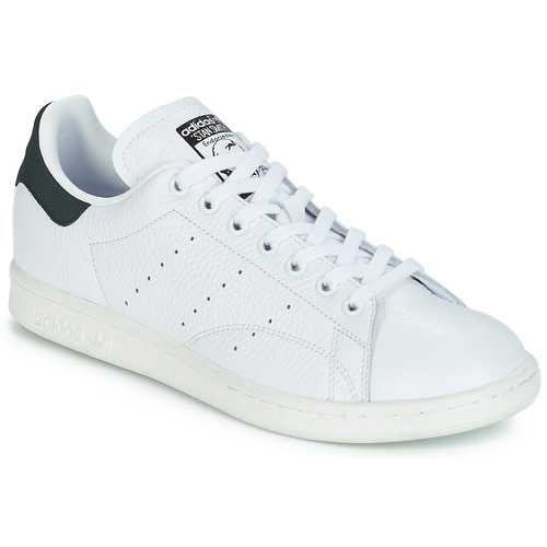 Schoenen Lage sneakers adidas Originals STAN SMITH Wit / Zwart