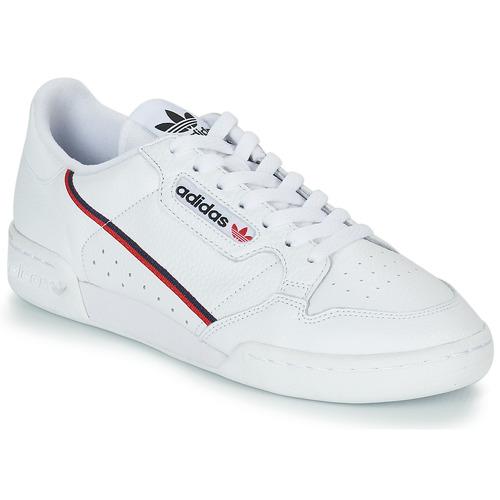 Schoenen Lage sneakers adidas Originals CONTINENTAL 80 Wit