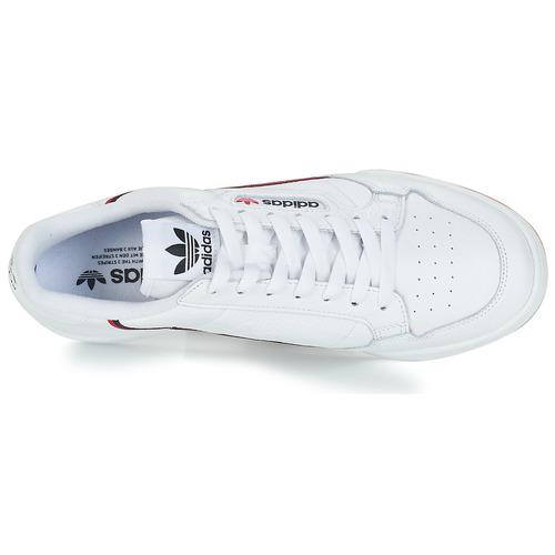 adidas Originals CONTINENTAL 80 Wit - Gratis levering  Schoenen Lage sneakers