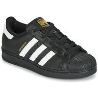 Schoenen Kinderen Lage sneakers adidas Originals SUPERSTAR C Zwart / Wit