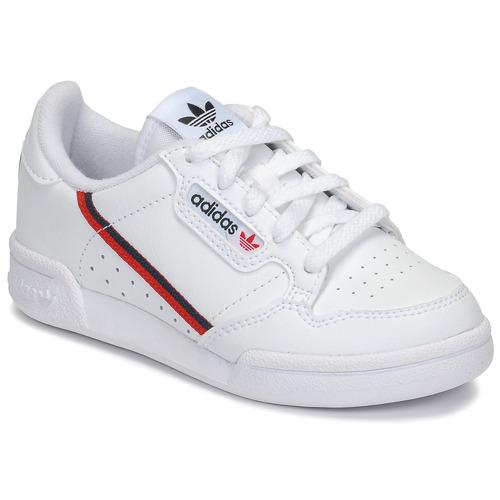 Schoenen Kinderen Lage sneakers adidas Originals CONTINENTAL 80 C Wit