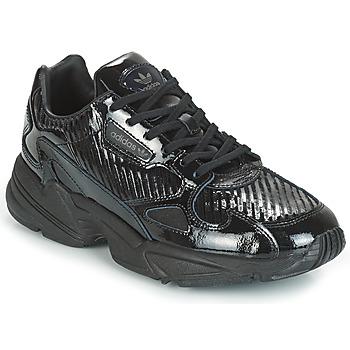 Schoenen Dames Lage sneakers adidas Originals FALCON W Zwart / Glitter