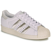 Schoenen Dames Lage sneakers adidas Originals SUPERSTAR 80s W Wit / Beige